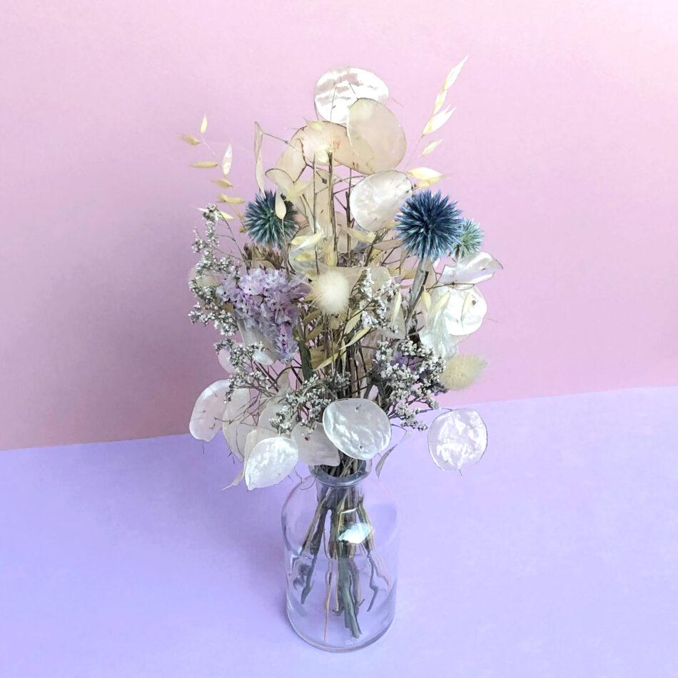 BimBamBloom_marguerite_moyenne_vase_250ml-clear-narrow-face top violet